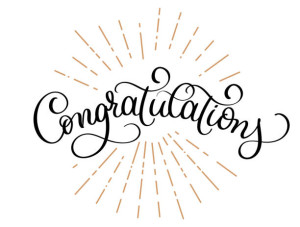 Congratulations calligraphy vector Hand written text. Lettering. Calligraphic banner.
